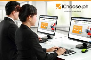 ichoose logo pc screen