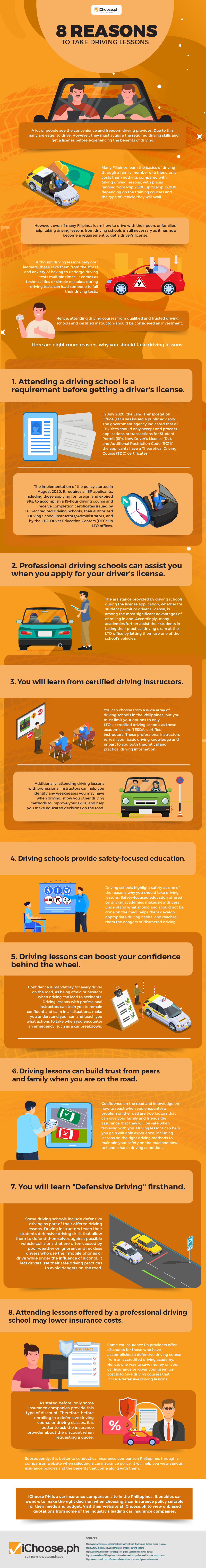 8 Reasons to Take Driving Lessons-01 Infographic