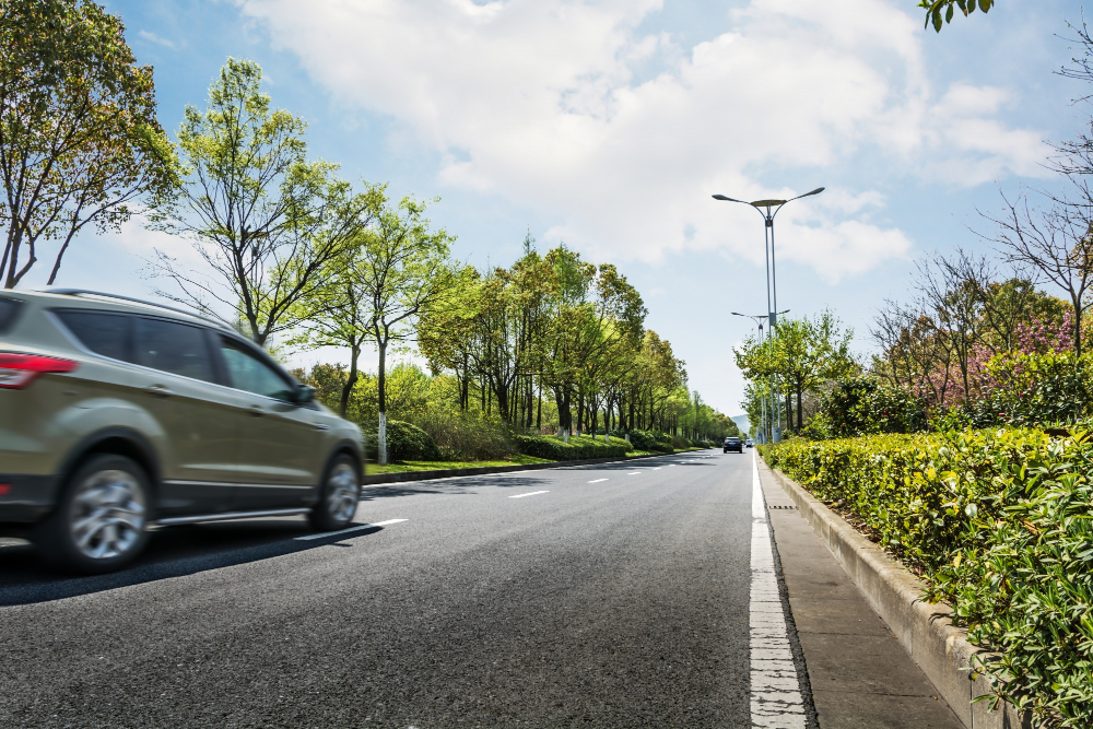 moving-car-road